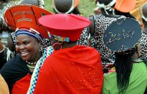 Jacob Zuma gets married: Zulu women attend the wedding of South African President Jacob Zuma