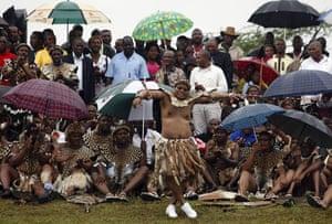 Jacob Zuma gets married: President Zuma dances during his traditional wedding to Tobeka Madiba
