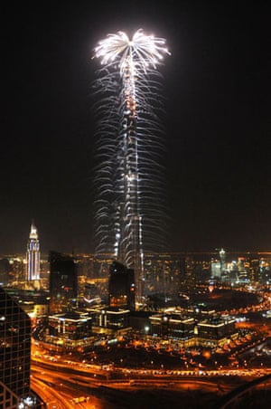 Burj opening ceremony: Dubai's Burj Khalifa tower is lit by fireworks