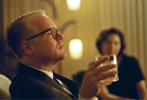 Writers in films: Philip Seymour Hoffman as Truman Capote in a scene from the film Capote