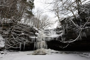 Snow: Gibson's Cave in Teesdale