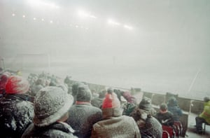 Fans in the stand at the City Ground prior to the FA Cup Fifth Round match between Nottingham Forest and Tottenham Hotspur being abandoned