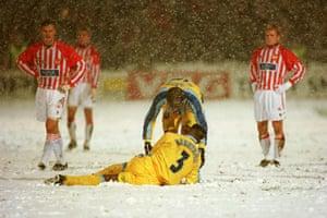 Snow in sport: Soccer - European Cup Winners Cup