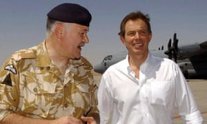 General Sir Peter Wall with Tony Blair in 2003