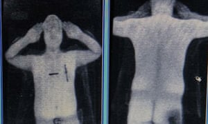 Image produced by a security scanner at Manchester airport