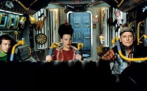 Dennis Hopper: Stephen Dorff, Debi Mazar and Dennis Hopper inSpace Truckers in 1996