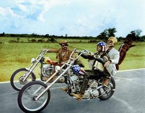 Dennis Hopper: Dennis Hopper, Peter Fonda and Jack Nicholson in the film Easy Rider, 1977