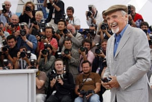 Dennis Hopper: Dennis Hopper at a photocall for the film The Palermo Shooting at Cannes