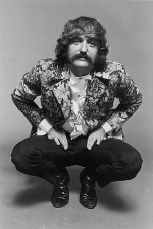 Dennis Hopper: Actor and director Dennis Hopper in a floral-patterned blazer in 1967