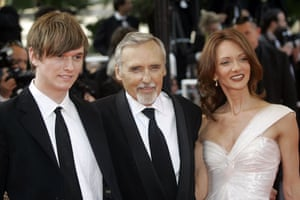 Dennis Hopper: Dennis Hopper with his wife Victoria Duffy and his son