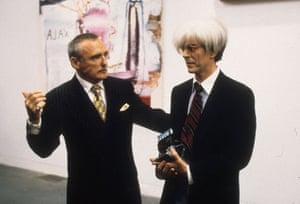 Dennis Hopper: Dennis Hopper with David Bowie in  Basquiat