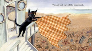 Mini grey books gallery: In Three By The Sea a black cat