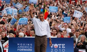 President Barack Obama attends DNC Rally at the University of Wisconsin in Madison