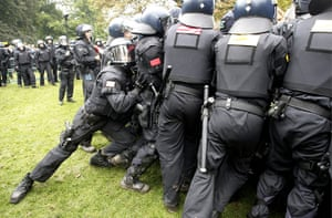 Stuttgart 21 Protest: Police clash with demonstrators protesting a railway project in Stuttgart