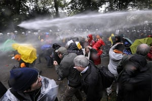 Stuttgart 21 Protest: Demonstrators clash with police during protests in Stuttgart