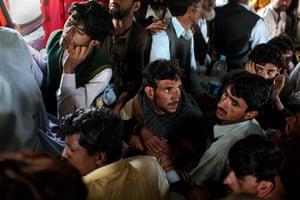 Swat: Flood-stricken villagers from the Kalam Valley, in upper Swat