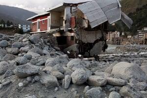Swat: Remains of the main hospital at Madyan,