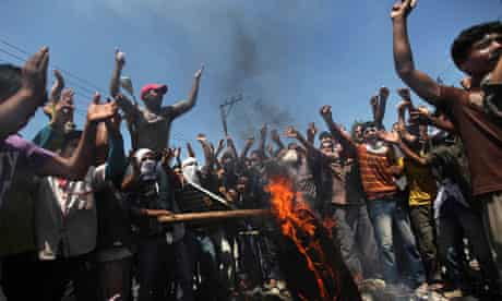 Kashmir protesters are using social media to disseminate news and views.