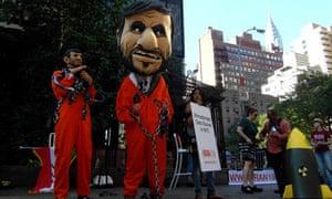 Protest agains Mahmoud Ahmadinejad's visit to New York 2010