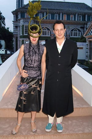 Isabella Blow: Blow with husband turned post-humous biographer Detmar