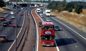 The M4 bus lane.