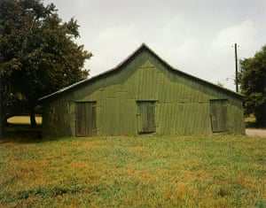 American South: Green Warehouse, 1978, by William Christenberry