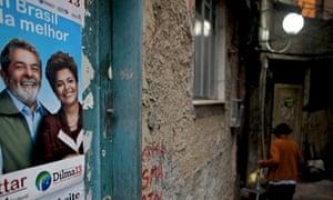 Poster of Dilma Rousseff in a Rio de Janeiro favela