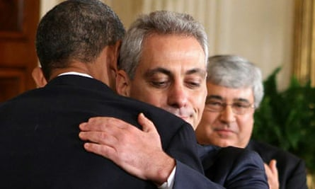 Rahm Emanuel with Peter Rouse