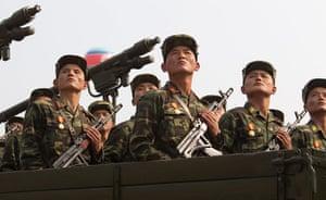 North Korea: North Korean military during the military parade