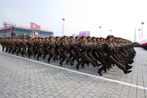 North Korea: North Korean military at the military parade