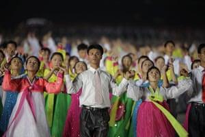 North Korea Update: Night dancing in Kim Il-Sung Square