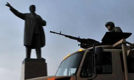 Kyrgyz soldiers on patrol