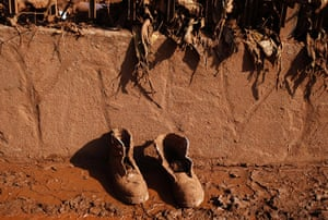 sludge: A pair of shoes lies covered with mud in the flooded village of Devecser
