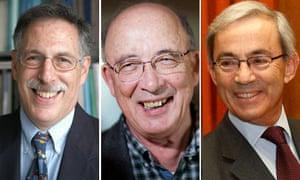 Professor Peter Diamond, Economist Dale Mortensen, Professor Christopher Pissarides