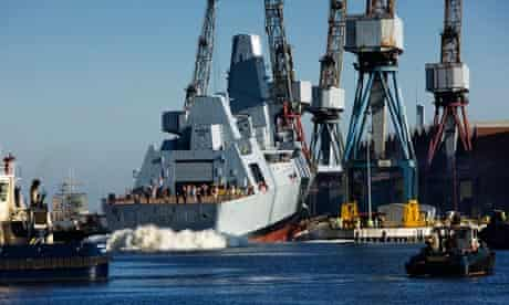 Type 45 Destroyer HMS Duncan is launched