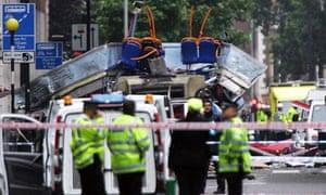 Bus bombed near Tavistock Square, 7 July 2005