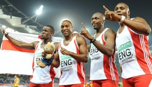 Commonwealth day 9: England relay team