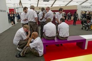 Frieze Art Fair: Annika Ström's 'Ten Embarrassed Men'