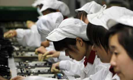 Foxconn factory in Shenzhen, southern China