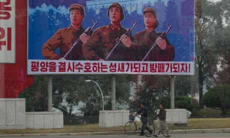 A street scene from Pyongyang.