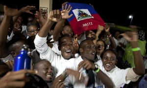 Some of the 163 Haitian students who received the Senegalese scholarships celebrate