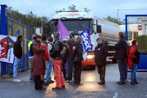 France Strikes: Protesters block fuel storage depots in Caen, northwestern France