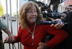 chile miners go home: Lilianett Ramirez, wife of freed miner Mario Gomez