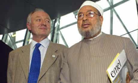 Ken Livingstone with Muslim cleric Yusuf al-Qaradawi in 2004