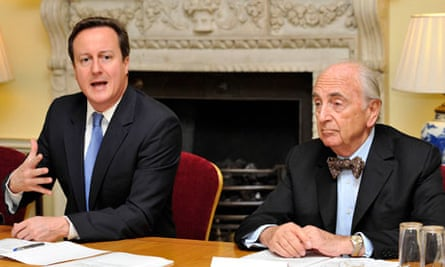 David Cameron and Lord Young