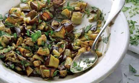 Aubergine with herbs