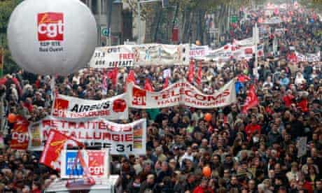 French protesters challenge pension reform plans as strikes hit fuel supplies