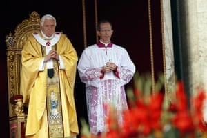 Canonisation ceremony: Pope Benedict XVI leads a solemn mass for the canonisation
