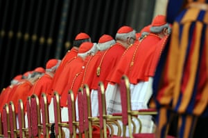 Canonisation ceremony: Cardinals attend a canonisation mass led by Pope Benedict XVI