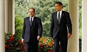 Obama and Iraqi PM Nouri al-Maliki